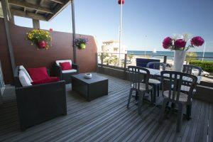 hôtel à Palavas les Flots terrasse
